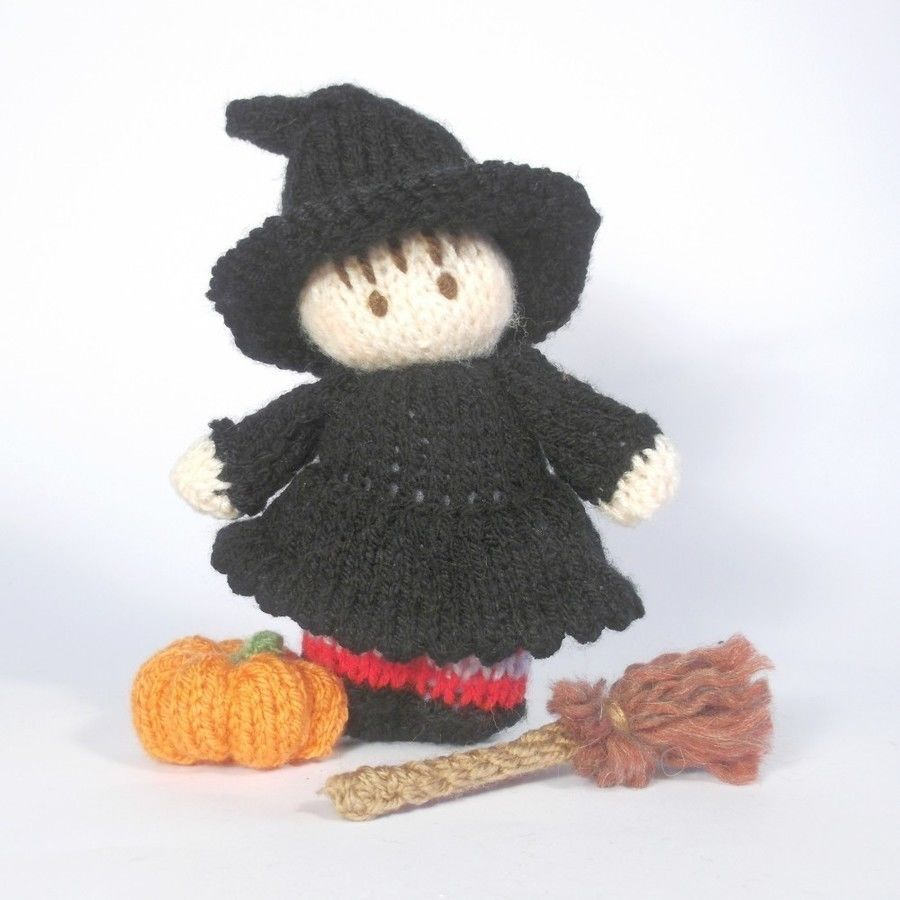 Halloween Witch BitsyBaby | Knitting patterns, Witches and Patterns