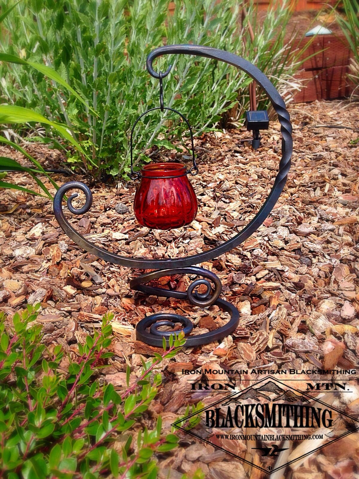 Hand Forged Candle Holder By Iron Mtn Blacksmithing Iron Candle Holders Blacksmithing Hand Forged Candle Holder