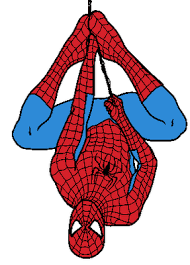 Spiderman upside down. Clipart great free silhouette