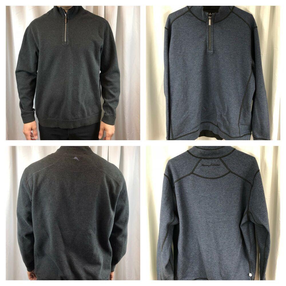 Tommy Bahama Reversible Blue Gray 1 4 Zip Zipper Pullover Sweater Sweatshirt M Ebay Grey Sweatshirt Mens Pullover Sweater Sweatshirts Pullover Sweatshirt Men [ 1000 x 1000 Pixel ]