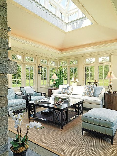 Love this- sun room that is chic.