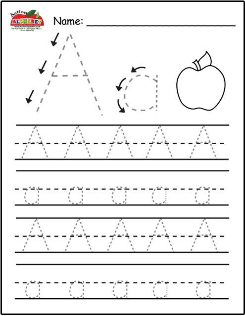 Not only letter tracing! This site has lists of all sorts for each - printable preschool worksheet