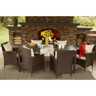 Havenside Home Stillwater Brown Indoor/ Outdoor 7-piece ... on Outdoor Living Shops Near Me id=52955