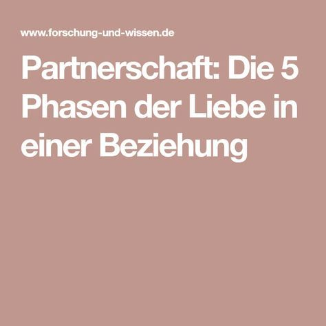 Phasen kennenlernen beziehung Partnersuche einer Trennung - Wie vorgehen?