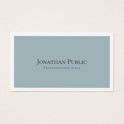 Create your own stylish modern elegant plain business card reheart Gallery