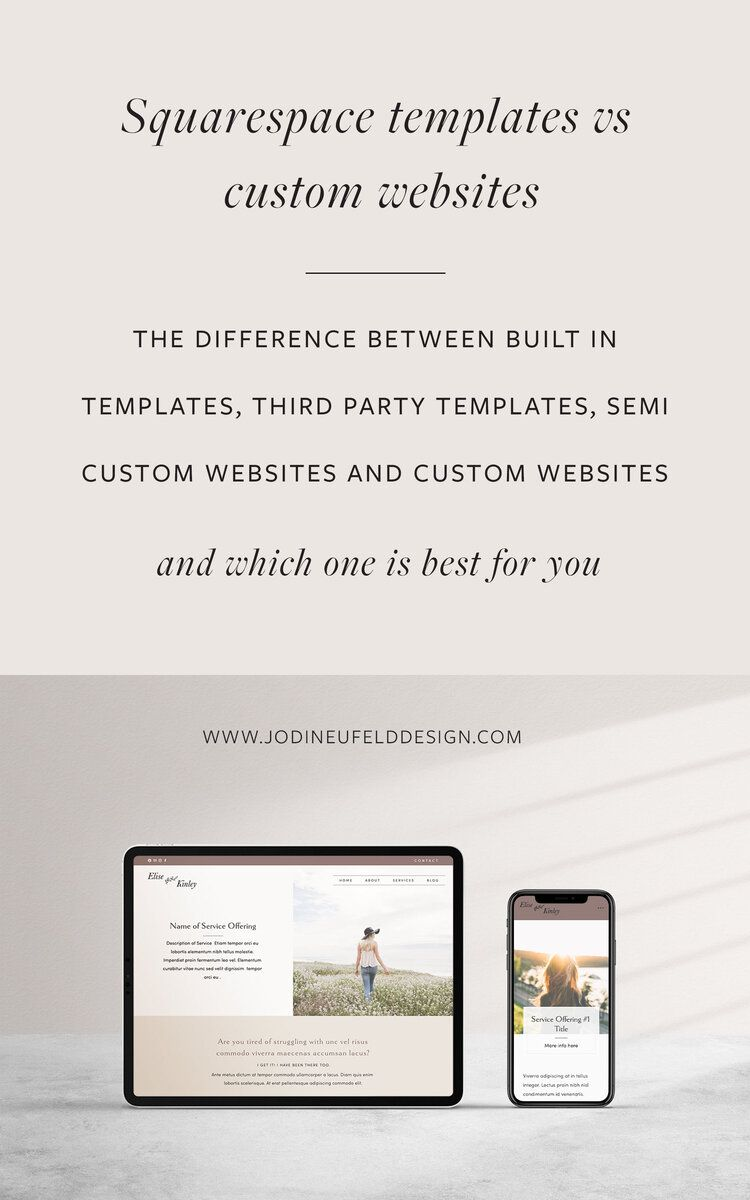 Squarespace Templates Vs Custom Websites The Difference Between