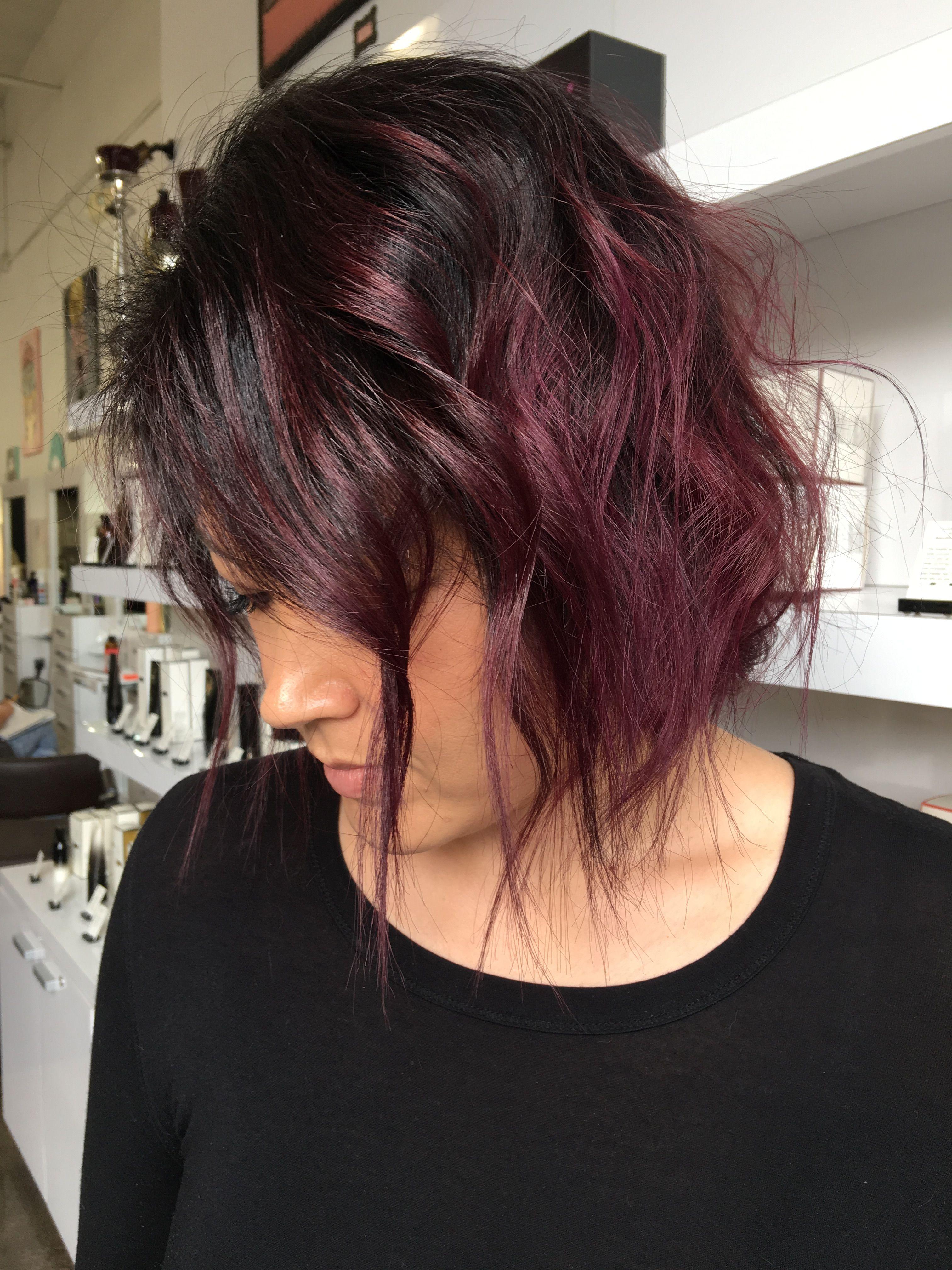 Medium Length Burgundy Ombre Hair Hair Hair Ombre Hair Ombre