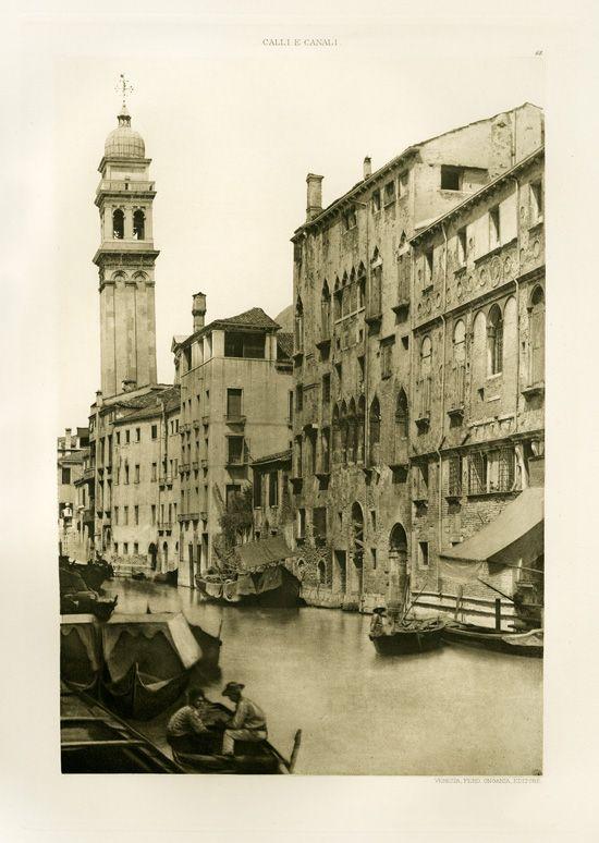 Ongania Calli E Canali In Venezia 1891