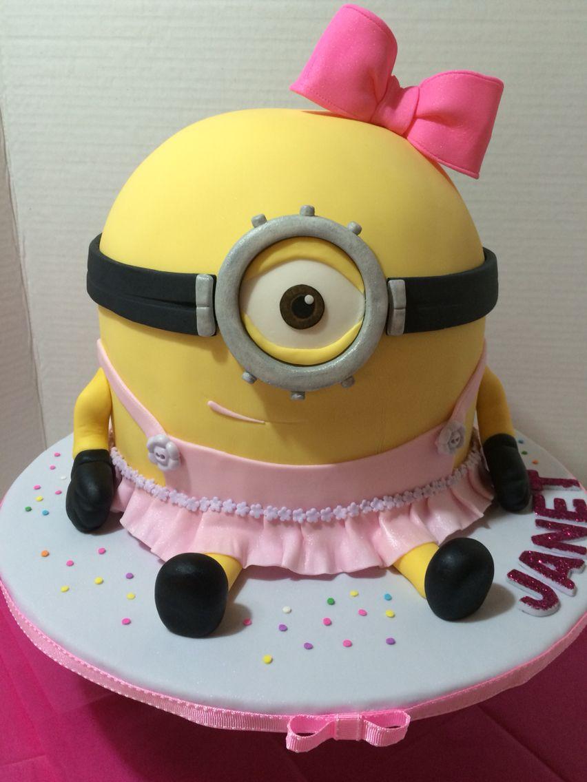minion girl cake | ミニオン | pinterest | キャラ ケーキ、ミニオン