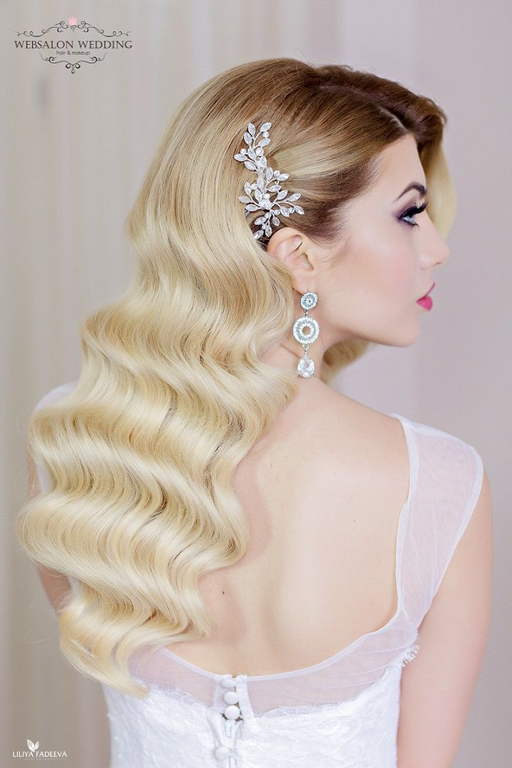 hair down wedding hairstyle #weddinghair #bridalhairstyle #updos #updohairstyle #eleganthairstyle #weddinghairstyles #bridehair