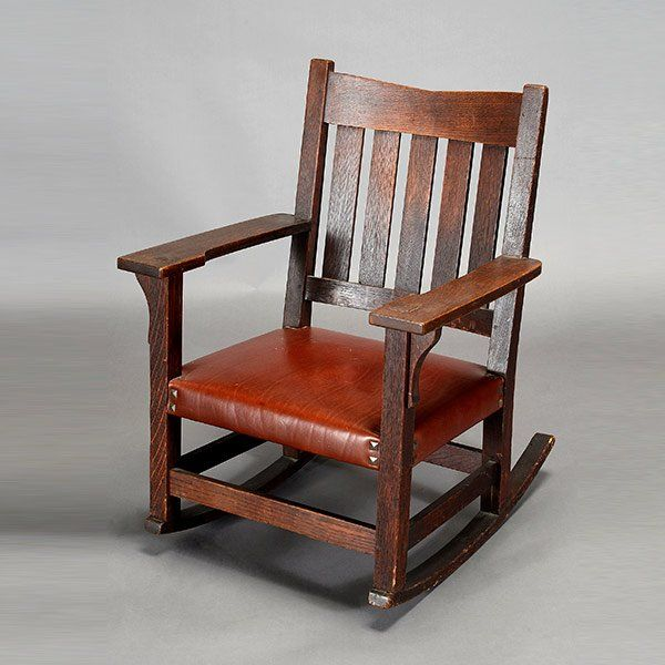 Image Result For Stickley Rocking Chair Leather Seat Outside