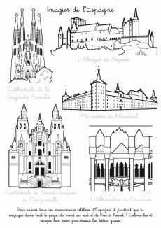 Coloriage imprimer imagier de l 39 espagne espagne pinterest imagier espagne et coloriage - Drapeau d espagne a colorier ...