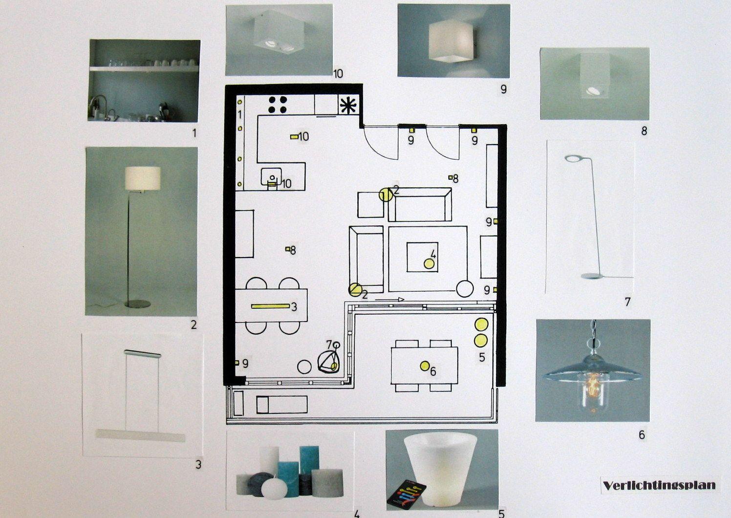 Verlichtingsplan - Concept templates | Pinterest - Interieurstyling ...