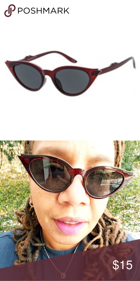 0e9afa4b6584 Spotted while shopping on Poshmark  Cateye Sunglasses with Winged Tip!   poshmark  fashion  shopping  style  Accessories