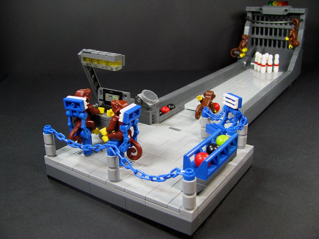 Six pin monkey bowling Lego room, Bowling, Home decor