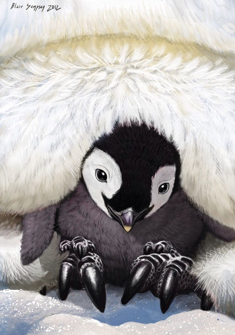 Warmest Place on Earth, Baby Penguin by Psithyrus on @DeviantArt