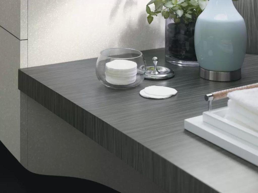 Modern Stylish Countertop Idea For Impressive Kitchens And Bathrooms: Black  Laminate Bathroom Countertop Stylish And Affordable Countertop