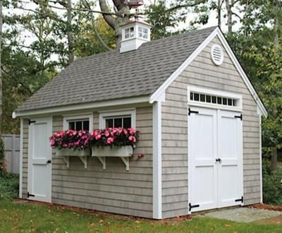 12 39 x16 39 pine harbor cape codder workshop shed deck for Best builders workshop deck
