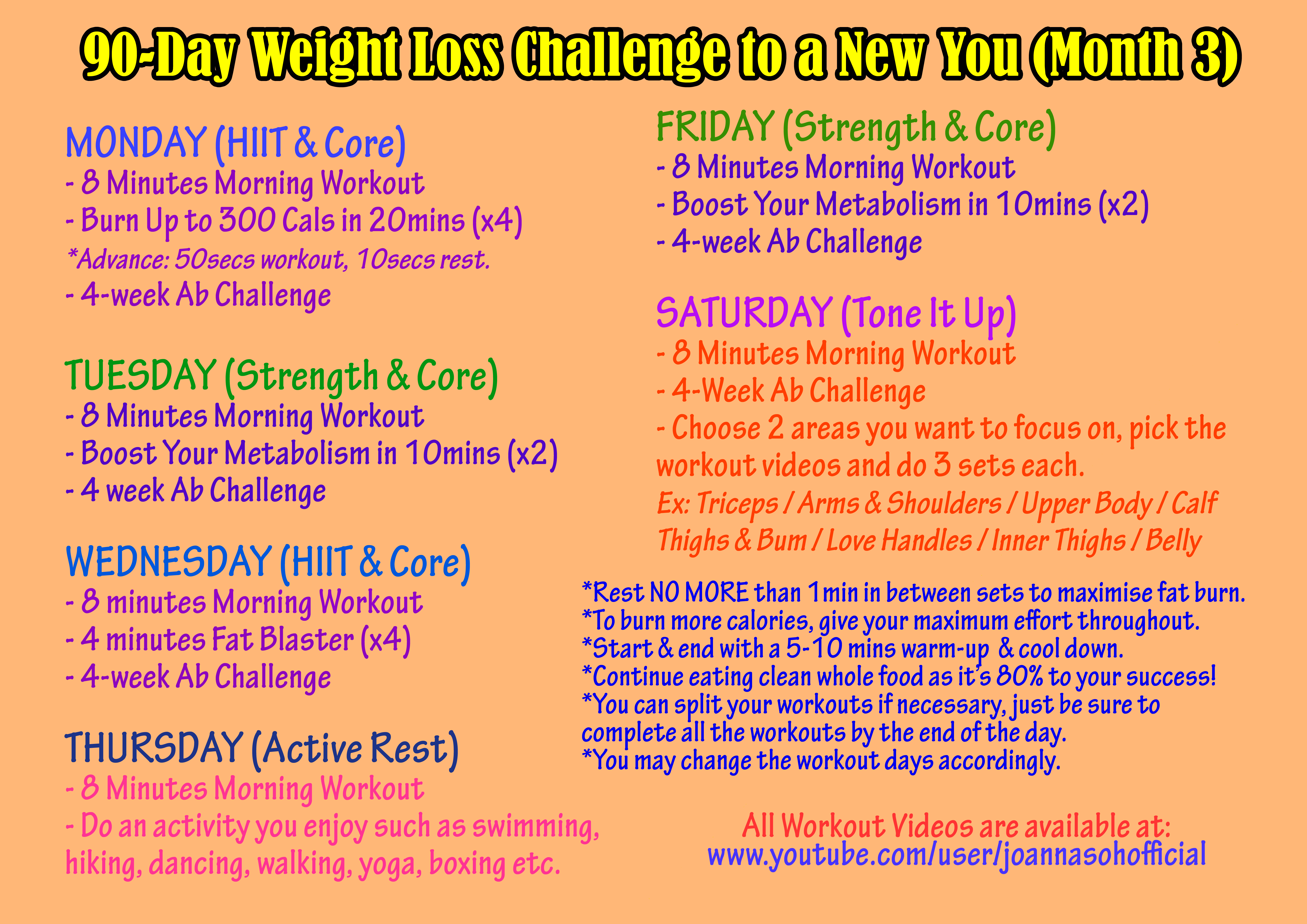 Full Workout Plan For Women 90 Day Weight Loss Challenge To A New ...