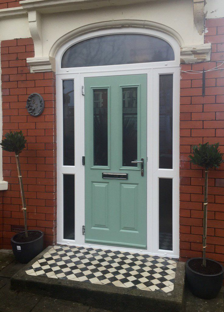 This stunning Chartwell Green composite door paired with its ...