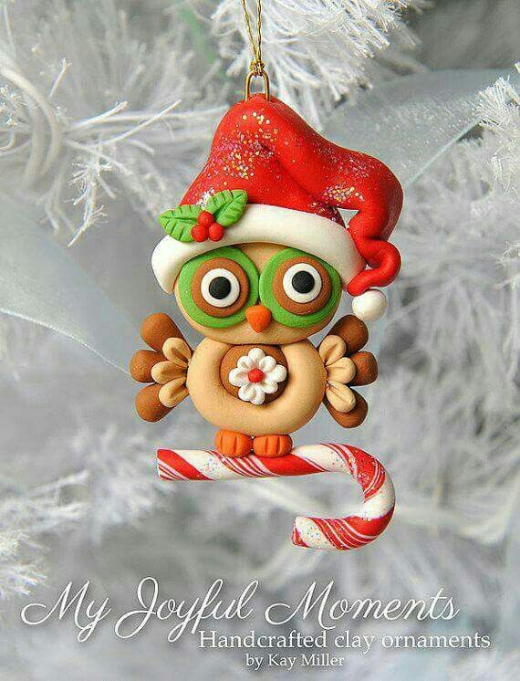 Pin By Chiqui Diana On Navidad Handcrafted Christmas Cards Handcrafted Christmas Ornaments Polymer Clay Christmas
