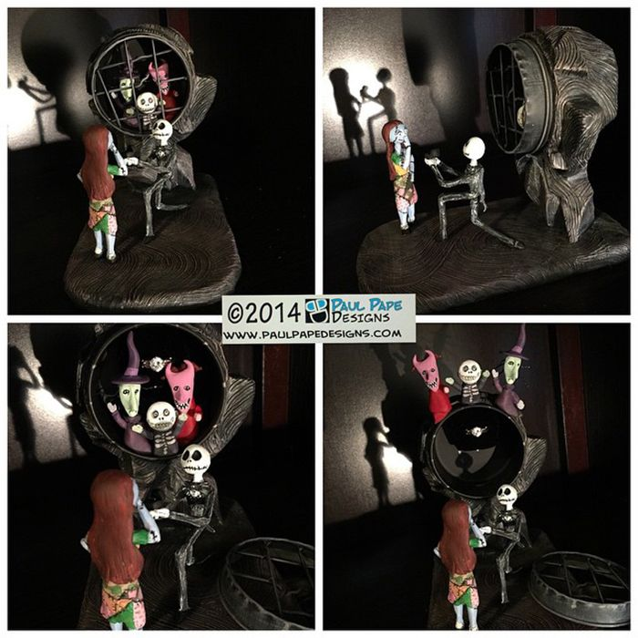 nightmare before christmas engagement ring box halloweenweek - Nightmare Before Christmas Wedding Rings