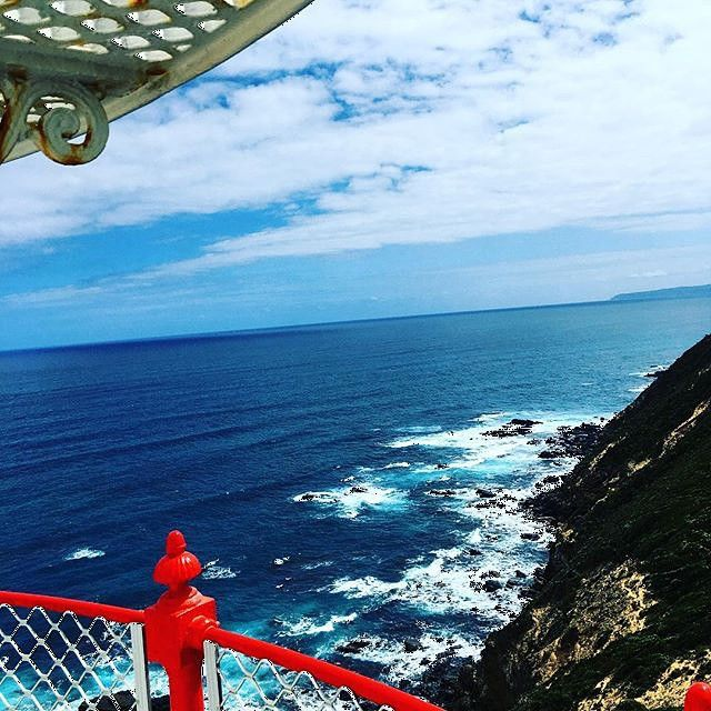 Birds eye view #capeotwaylightstation @greatoceanroad #apollobay #capeotway Best day out ever #family #fun #adventure #travel #treasures #lighthouse #greatoceanroad thxs@loucoxon for the share love the colours by greatoceanroad