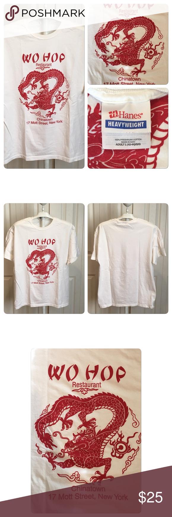 Vtg 90s Wo Hop Chinese Restaurant Dragon Tee Nyc Vintage Shirts Tees Vintage Black