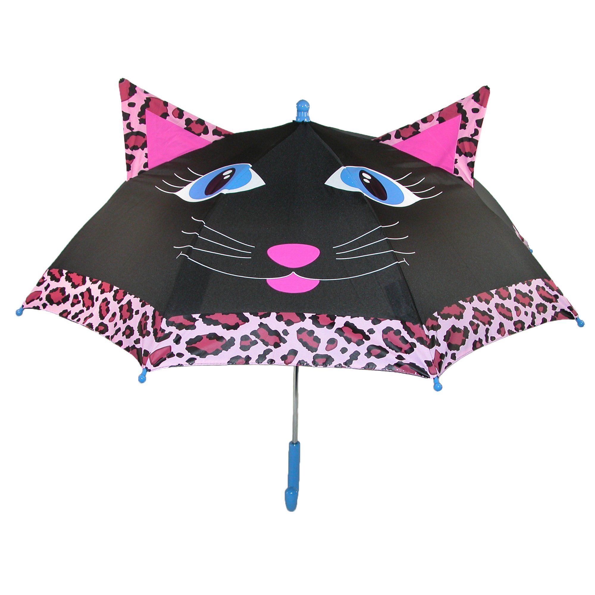 ShedRain Kids' Cat Character Stick Umbrella