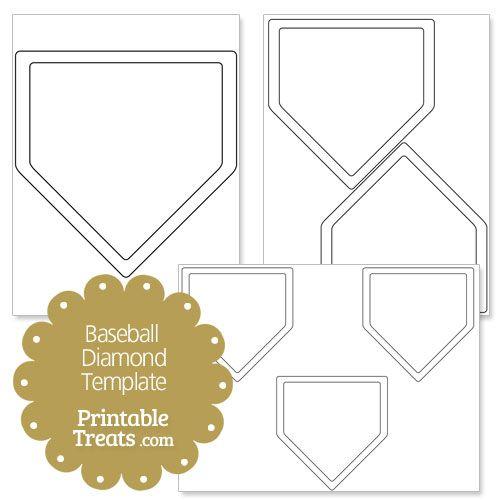 printable plate template from printabletreats com baseball