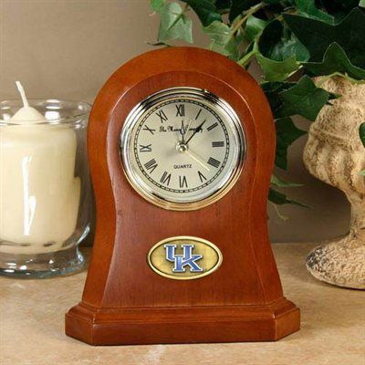 #Fanatics  Kentucky Wildcats Wooden Desk Clock