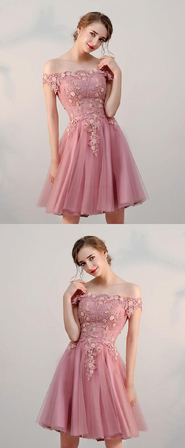 Custom made appealing short prom dresses pink prom dresses prom