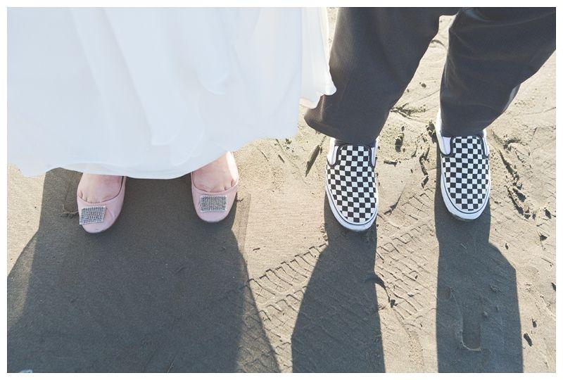 Enjoying the Ocean| stroll on the beach|wedding day fun| seabrook washington. photo taken by Heather B. Allison Photography.