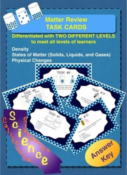 Matter Task Cards | Task cards, Types of learners, States ...