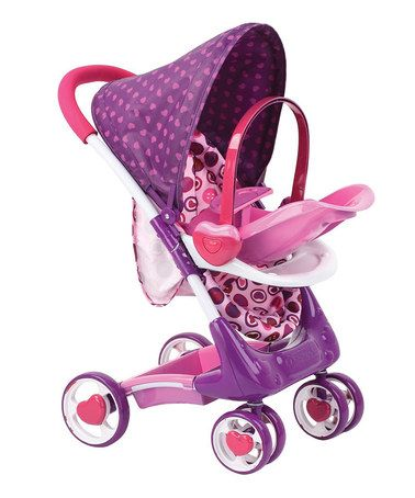 hauck pink purple doll stroller set zulily strollers. Black Bedroom Furniture Sets. Home Design Ideas