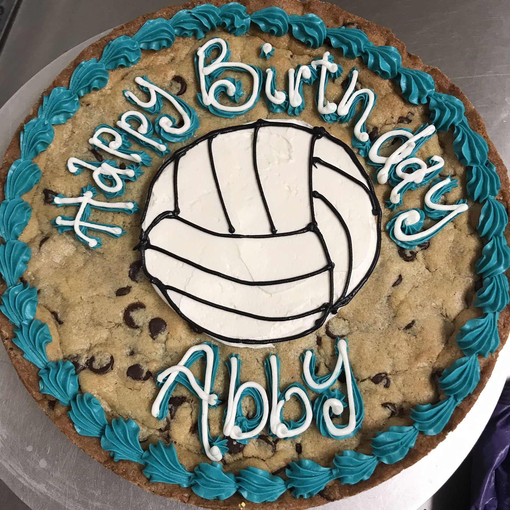 Volleyball Cookie Cake Cookie Cake Volleyball Cookies Sport Cakes