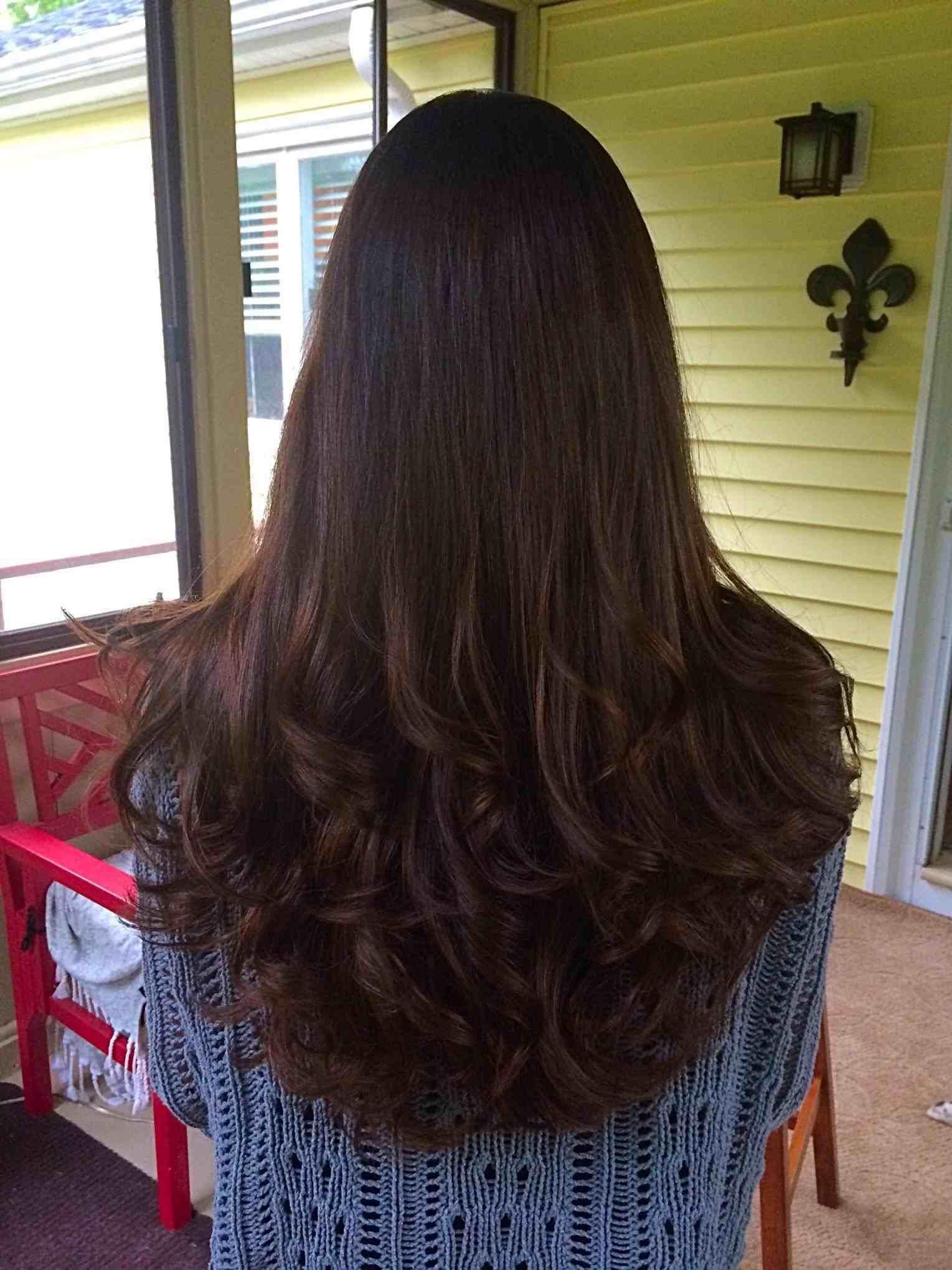 Layered Angled Bob Haircut Locks Of Love Hair Tutorial Long To