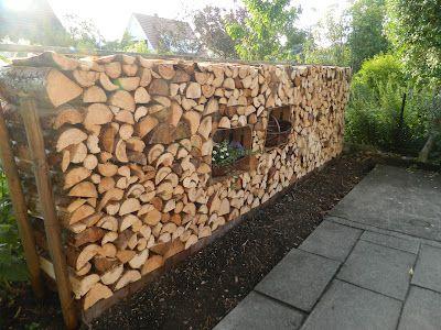 Made by sannshine wooden wall holz stapel zur deko nutzen oder die kisten mit schilf ziegel - Fensterrahmen selber bauen ...