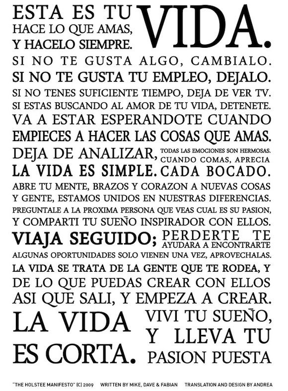 the holstee manifesto en espa ol remember pinterest. Black Bedroom Furniture Sets. Home Design Ideas