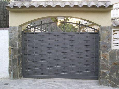Portones modernos 2016 buscar con google casas ruticas - Puertas de metal para casas ...