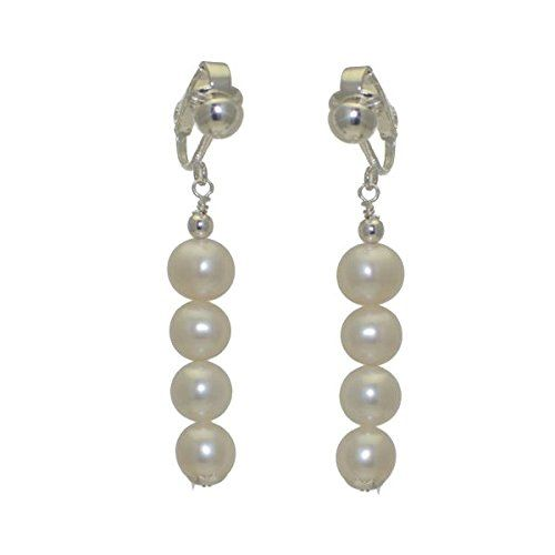 FRESCA QUAD Silver Plated 8mm Freshwater Pearl Clip On Earrings -- More details @ http://www.amazon.com/gp/product/B00C2ES9G4/?tag=ilikeboutique09-20&ij=200716050813