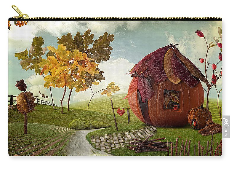What did the two vampires order Carry-all Pouch for Sale by Halloween Village