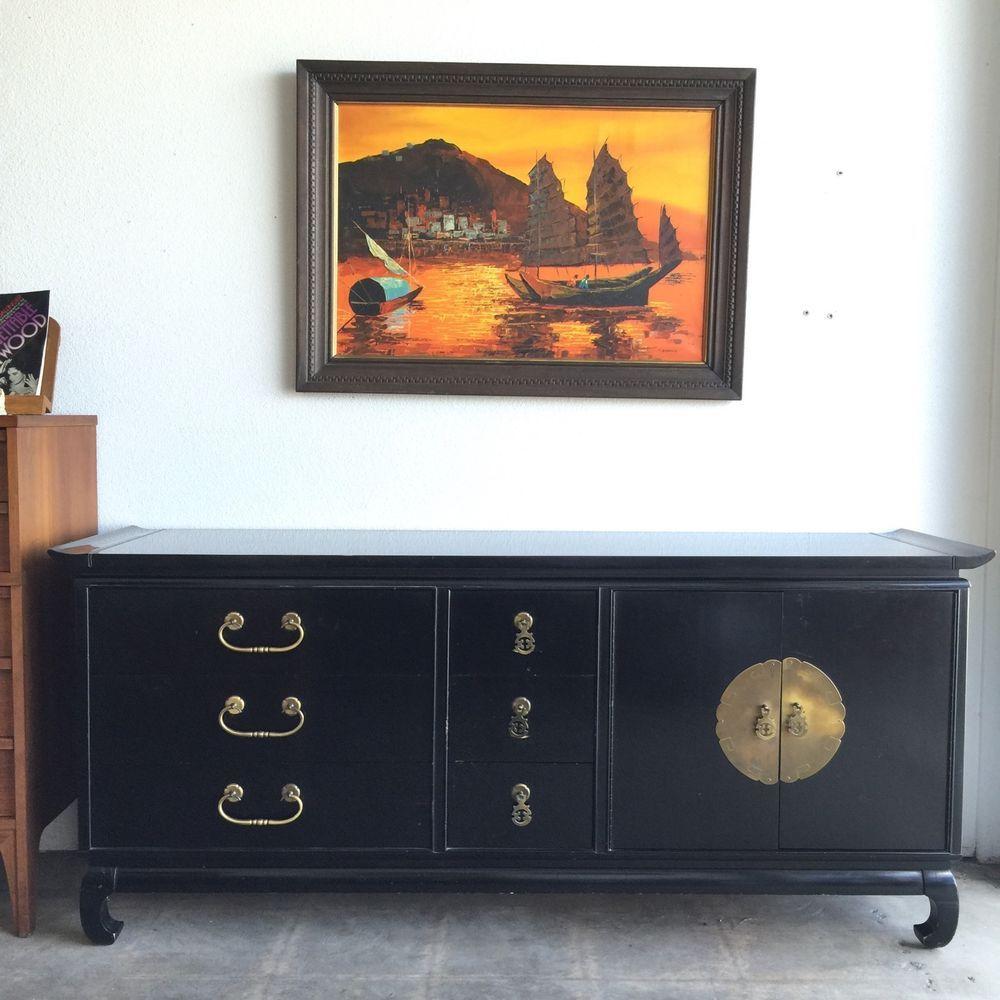 Kent-Coffey Amerasia Dresser Credenza Buffet Mid Century Black ...