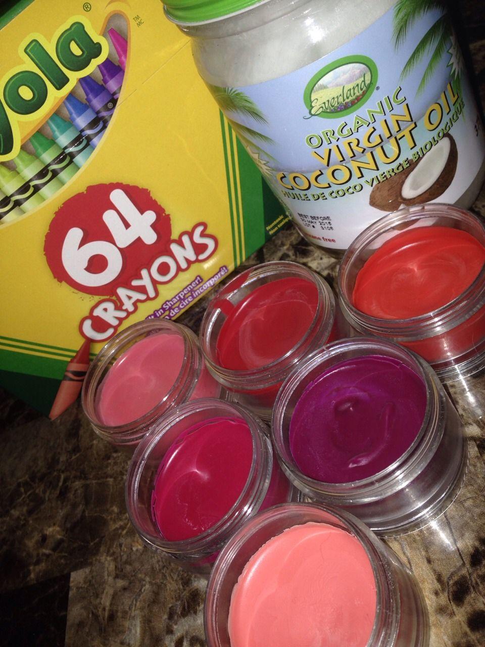 Diy lipstick using coconut oil and crayola crayons