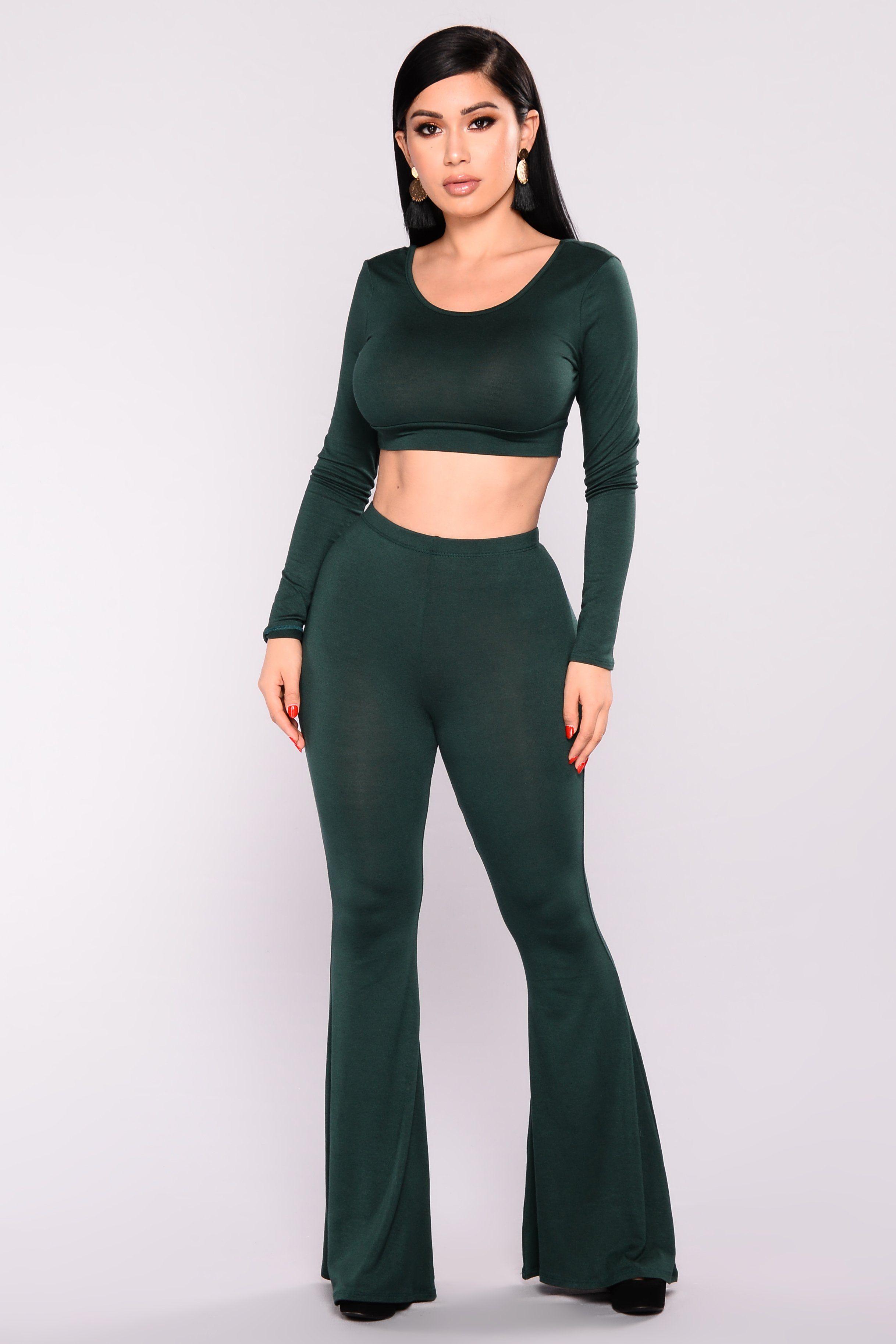 Albina Pant Set Hunter Green | Girl outfits, Fashion, Long