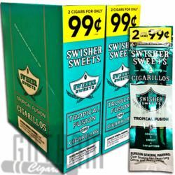 Tropical Fusion Swisher Sweets Cigars are on sale at Gotham Machine Made  Cigars! Buy 30 pouches of 2 and save money buying swisher sweets online.
