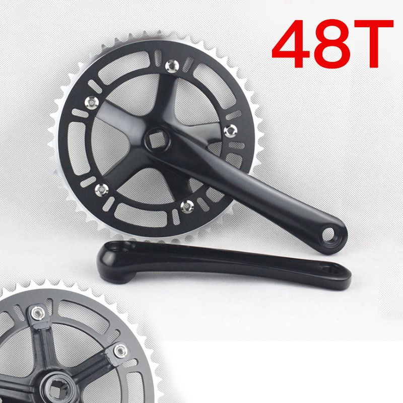 Fixed Gear Single Speed Road Bike Folding Bicycle Chain Wheel 48t