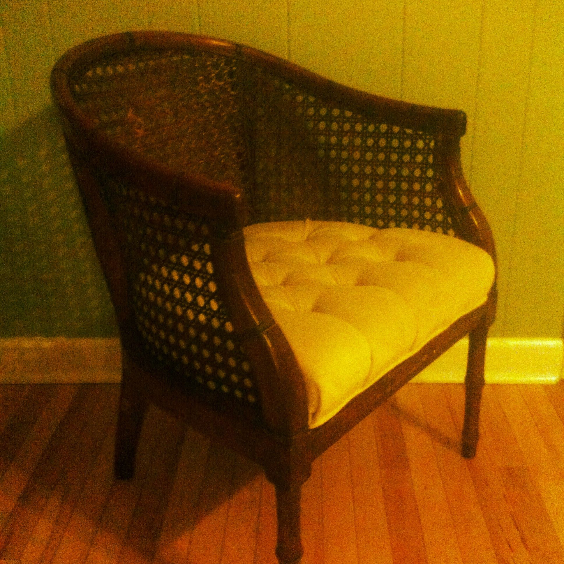 "our ""new to us"" chair."