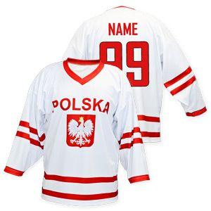 National Hockey Teams Poland Hockey Jersey White Slovak Sports Fan Shop Hockey Jersey Jersey Hockey