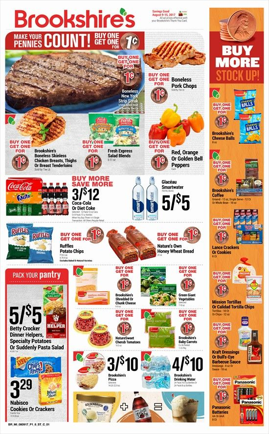 Brookshire's Weekly Ad August 9 - 15, 2017 - http://www.olcatalog.com/grocery/brookshires-weekly-ad.html